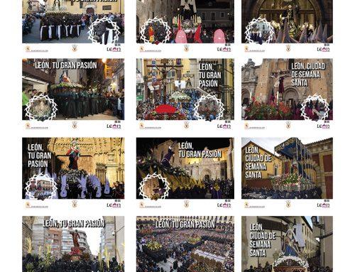 """Campaña Metro de Madrid """"León, ciudad de Semana Santa"""""""